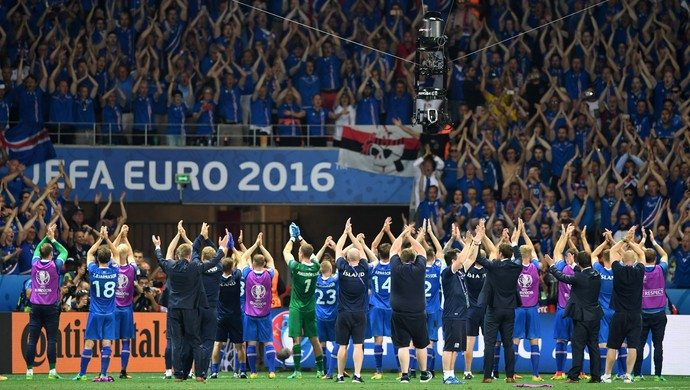 Islândia Inglaterra (Foto: Paul Ellis / AFP)