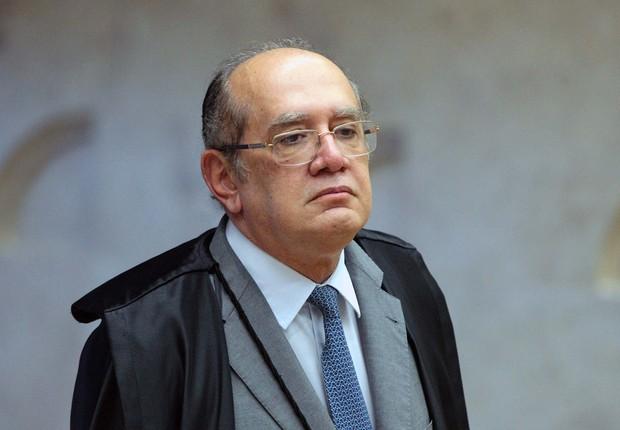 O ministro do STF Gilmar Mendes durante a última sessão do Supremo de 2017 (Foto: Carlos Moura/SCO/STF)