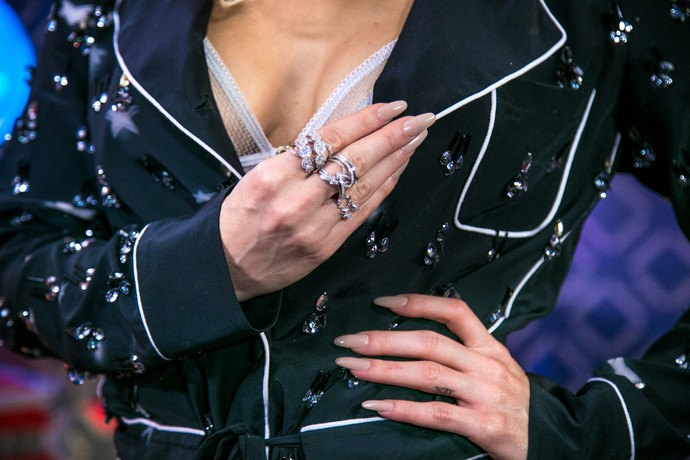 Anéis e unhas baphônicas! (Foto: Isabella Pinheiro/Gshow)