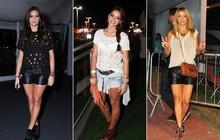 Couro, muito preto e pernas à mostra: veja as famosas mais estilosas que passaram pelo Rock in Rio