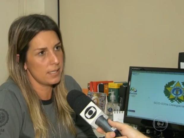 Delegada Daniela Terra era titular da 33ª DP (Realengo) antes de assumir a DRCI (Foto: Reprodução/TV Globo)
