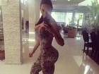 Gracyanne Barbosa vai malhar com roupa de oncinha: 'Treino animal'