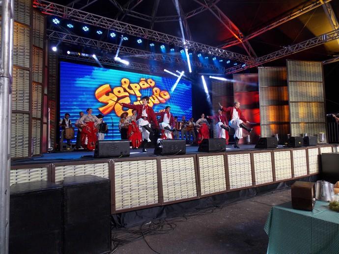 Galpão Crioulo Festa da Uva Grupo Os Gaudérios (Foto: Nice Sordi/RBS TV)