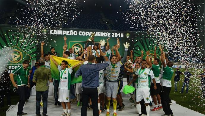 Cuiabá é o campeão da Copa Verde (Foto: Pedro Lima/Assessoria Cuiabá Esporte Clube)