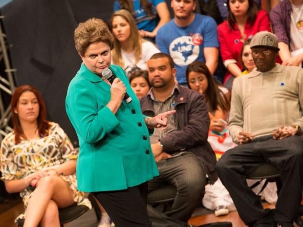 Dilma rebateu críticas à gestão da Petrobras (Foto: Juliana Knobel/Frame/Estadão Conteúdo)