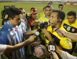 Vanderson árbitro Benedito Pinto da Silva wo Santa Cruz (Foto: Marcelo Seabra / O Liberal)