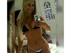 Cristianne Rodriguez faz selfie de biquíni para dar 'conferida no shape'