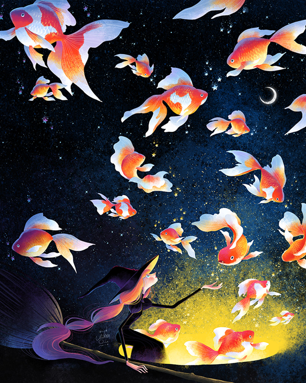 Follow the stars. Dance the night away (Foto: Reprodução http://littleoil.tumblr.com/)