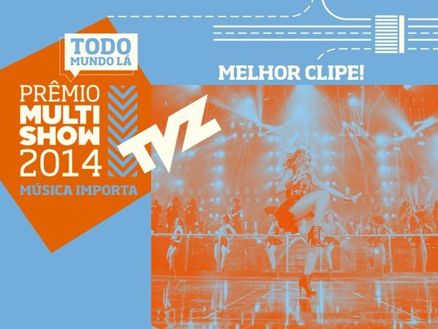 prmio multishow de msica 2014 melhor clipe tvz (Foto: Divulgao)