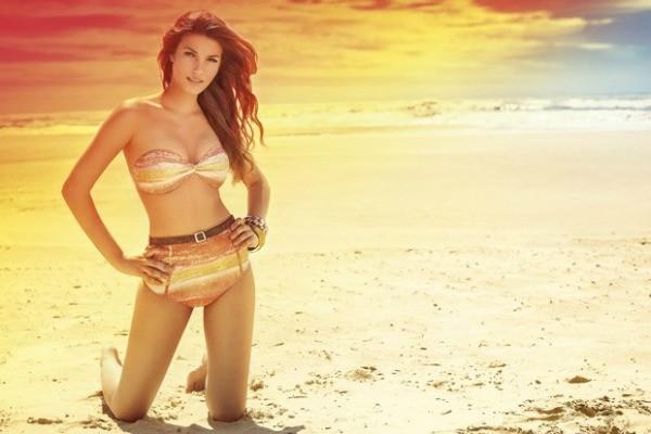 Marceli Viana foi eleita a Garota Verão de 2012 e estampa a campanha da próxima edição (Foto: Arte/RBS TV)