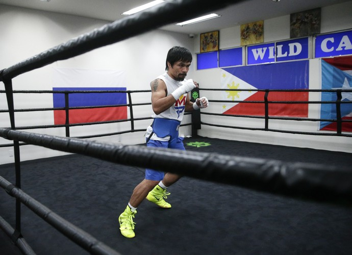 boxe Manny Pacquiao treino (Foto: AP)