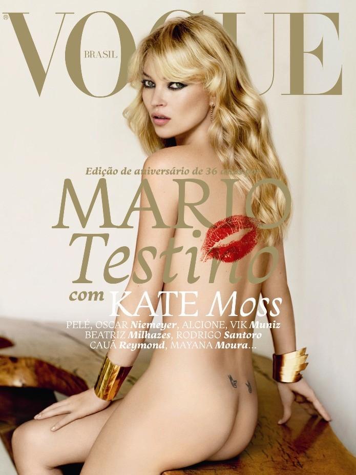 Kate Moss por Mario Testino na edição de aniversário de 36 anos da Vogue Brasil, em maio de 2011 (Foto: Mario Testino/Arquivo Vogue)
