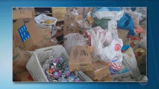 Fiscais acham produtos vencidos há 4 anos sendo vendidos em 'mercadão' de Feira de Santana