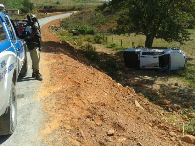 Ex-presidente do PT foi socorrido por ambulância da SAMU e policiais militares (Foto: Portal Oeste Bahia)