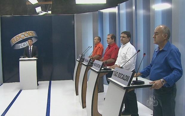 Debate ocorreu na noite desta terça (30) (Foto: Reprodução TV Acre)