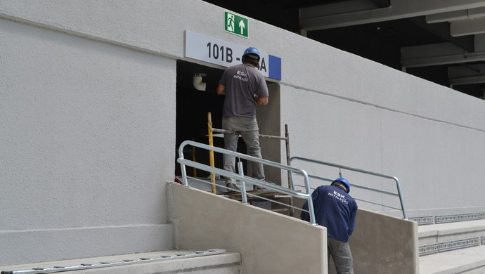 Informação sobre setores da Arena da Baixada, do Atlético-PR (Foto: Site oficial do Atlético-PR/Divulgação)