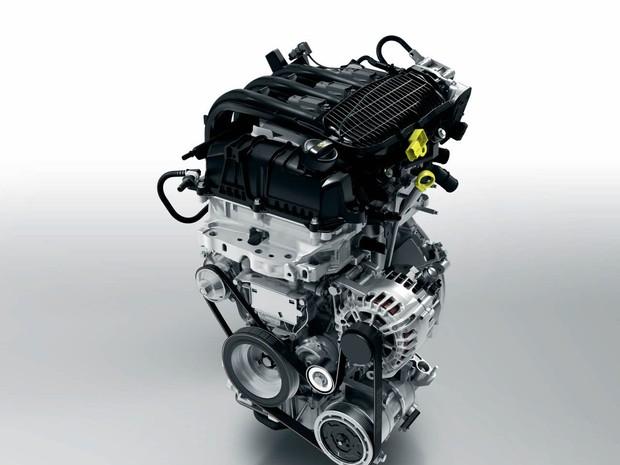 Motor 1.2 de três cilindros do Peugeot 208 (Foto: Divulgação)