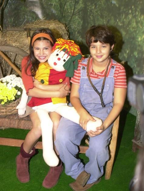 Lara Rodrigues na época em que fazia o 'Sítio do Pica-pau amarelo' (Foto: Reprodução da internet)