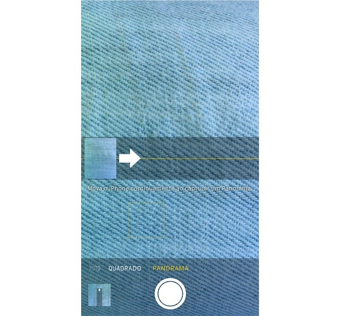 Tirando uma foto panorâmica com o iPhone (Foto: Reprodução/Helito Bijora)