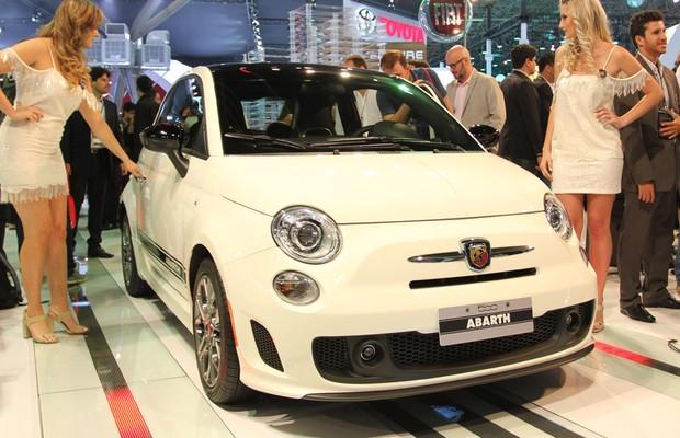Fiat 500 Abarth no Salão do Automóvel (Foto: Gustavo Maffei/Autoesporte)
