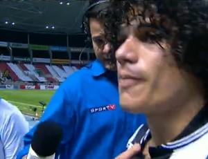FRAME - Marcio azevedo botafogo deixa o campo chorando (Foto: SporTV)