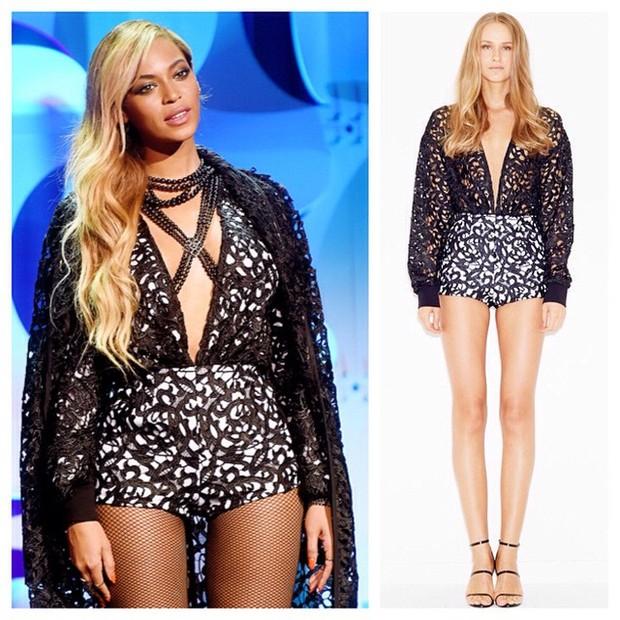 Beyoncé com look do estilista LaQuan Smith (Foto: Reprodução/Instagram)