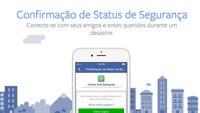 Nova função do Facebook, o Safety Check, pergunta se usuário está bem em caso de desastres (Foto: Divulgação/Facebook)