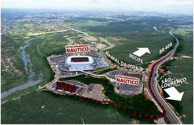 arena pernambuco clássico sul-americana (Foto: Divulgação)
