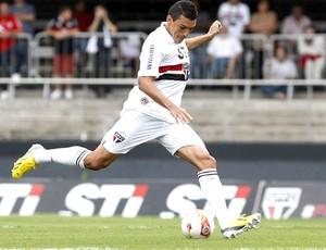Lúcio na partida do São Paulo contra o Mirassol (Foto: Rubens Chiri / saopaulofc.net)