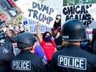 Campanha de Trump na Califórnia é marcada por protestos