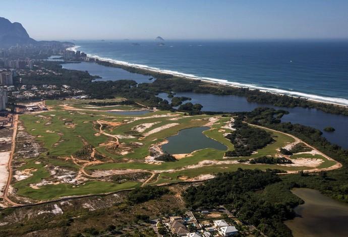 Campo de golfe obras Rio 2016 (Foto: André Motta/Ministério do Esporte)