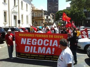 Servidores e professores da UFPB fazem protesto no Centro de João Pessoa  (Foto: Divulgação/Sintesp-PB )