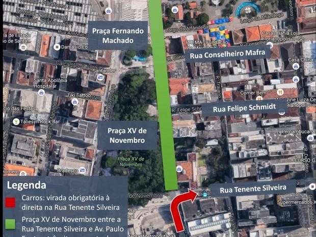 Trânsito da capital tem alterações para marcar o Dia Mundial Sem Carro (Foto: Prefeitura de Florianópolis/Divulgação)