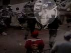 Torcedor que jogou bomba em jogo no CE está proibido de ir a estádio