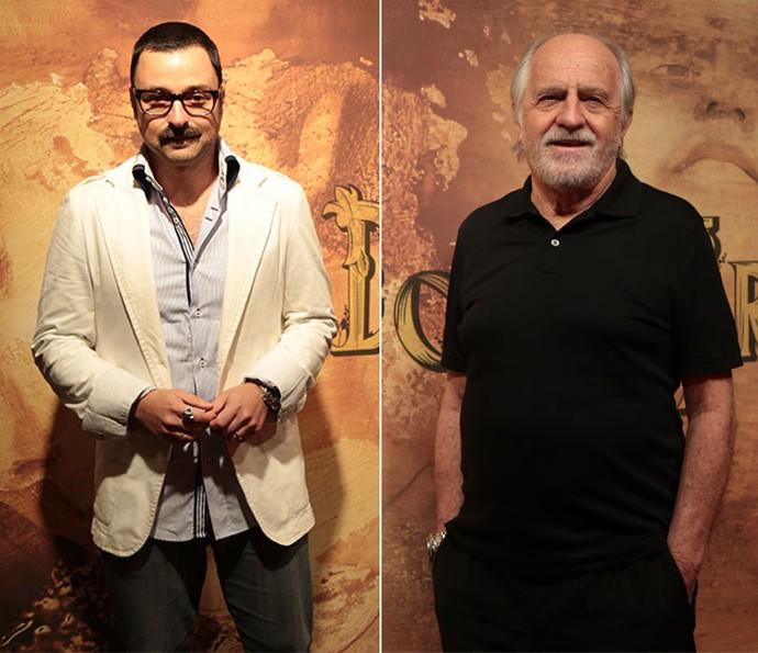 Abelardo é o papel de Emilio Orciollo Netto e de Ary Fontoura (Foto: Isabella Pinheiro/ Gshow)