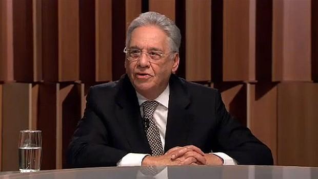 O ex-presidente Fernando Henrique Cardoso (FHC) durante entrevista no programa Canal Livre (Foto: Reprodução/Bandeirantes)