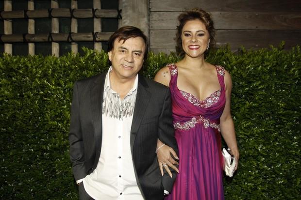 Marcia Esposa de Chitãozinho no casamento de Fabio Jr (Foto: Celso Tavares / EGO)