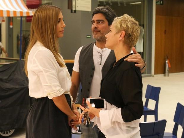 Ivete Sangalo, Xuxa e Junno Andrade em shopping na Zona Sul do Rio (Foto: Daniel Delmiro/ Ag. News)