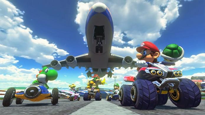 Os gráficos de Mario Kart 8 impressionam e são provavelmente os mais belos produzidos pela Nintendo atualmente (Foto: Reprodução/Mario Wikia)