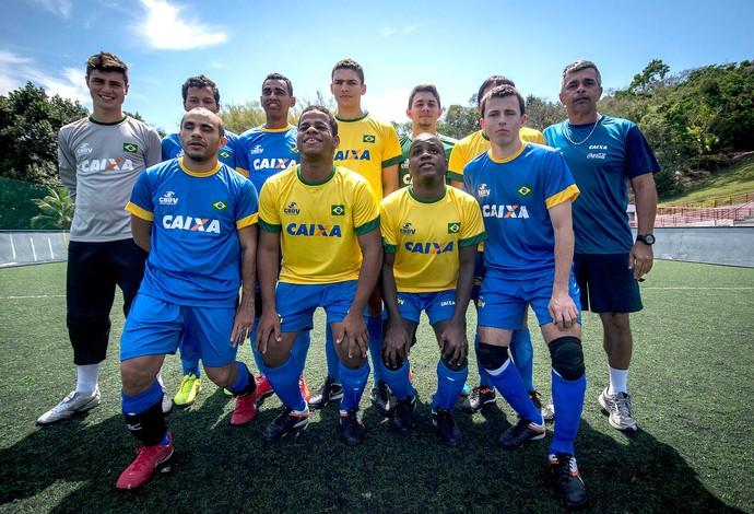 futebol de 5 brasil mundial tóquio (Foto: divulgação cpb/ mpix)