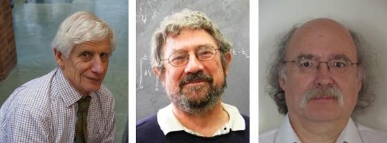 Thouless, Kosterlitz e Haldane. Eles descobriram meios matemáticos de descrever o comportamento de estados exóticos da matéria (Foto: Divulgação)
