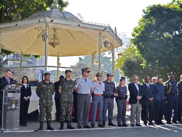 Autoridades participaram das celebrações de 9 de Julho em Piracicaba (Foto: Rafael Bitencourt)