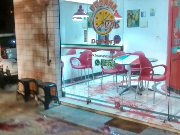 Pizzaria onde ocorreu o crime fica na Zoona Sul do Recife (Foto: PMPE/WhatsApp)