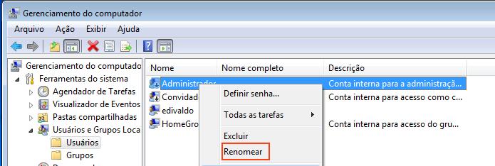 Acessando a opção Renomear no menu de contexto do usuário (Foto: Reprodução/Edivaldo Brito)