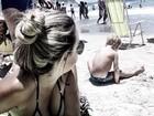 Carol Dantas leva Davi Lucca à praia