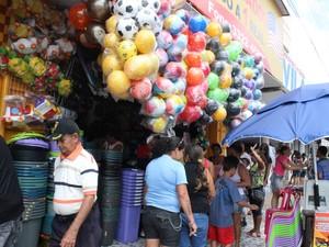 O comércio e prestação de serviços respondem por 80% do PIB (Foto: Patrícia Andrade/G1)