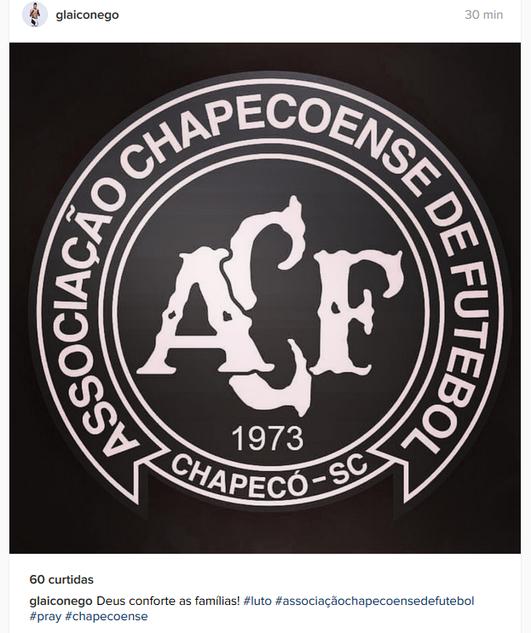 Glaico França Chapecoense (Foto: Reprodução / Instagram)