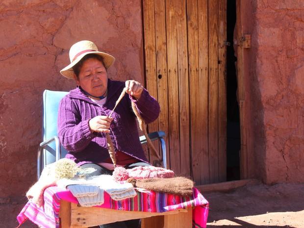Cotidiano do deserto foi registrado por Luciana Macedo durante viagem (Foto: Luciana Macedo/Divulgação)