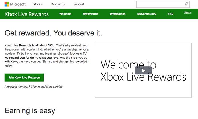 Saiba como se cadastrar no programa de prêmios Xbox Live Rewards (Foto: Reprodução/Murilo Molina)