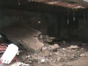 Sindicato divulgou imagens da estrutura precária do DPJ de Vila Velha (Foto: Reprodução/TV Gazeta)